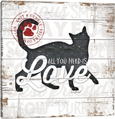 All You Need Is Love - Cat Canvas Art Print
