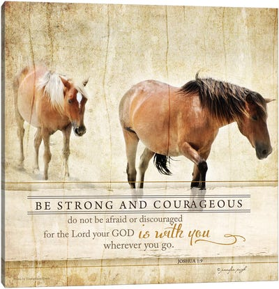 Be Strong Canvas Art Print