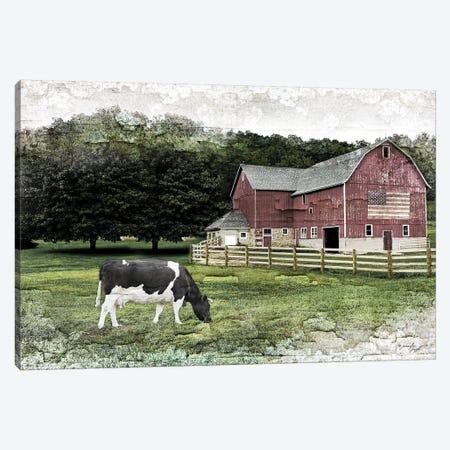 Cow I Canvas Print #PUG56} by Jennifer Pugh Canvas Art Print