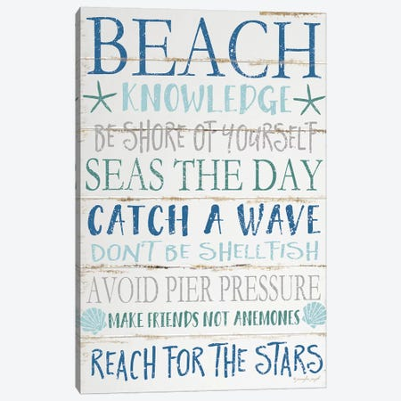 Beach Knowledge Canvas Print #PUG5} by Jennifer Pugh Canvas Art Print
