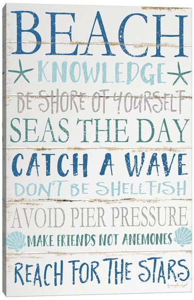 Beach Knowledge Canvas Art Print