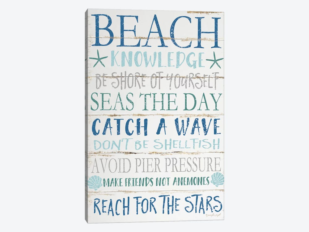 Beach Knowledge by Jennifer Pugh 1-piece Canvas Artwork
