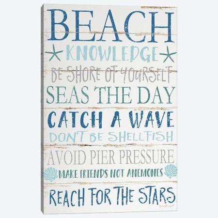 Beach Knowledge Canvas Print #PUG5} by Jennifer Pugh Canvas Art Print