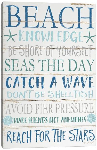Beach Knowledge Canvas Art Print