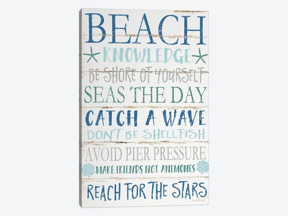 Beach Knowledge by Jennifer Pugh 1-piece Canvas Artwork
