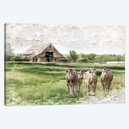 Cows 3-Piece Canvas #PUG60} by Jennifer Pugh Canvas Art Print