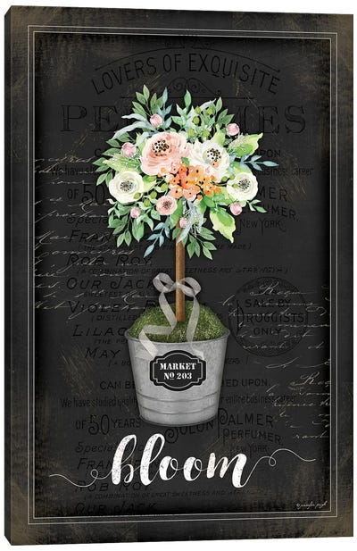 Floral Topiary III Canvas Art Print