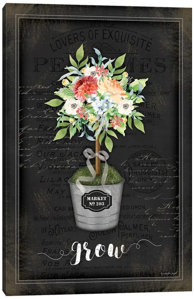 Floral Topiary IV Canvas Art Print