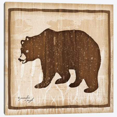 Bear Canvas Print #PUG6} by Jennifer Pugh Art Print