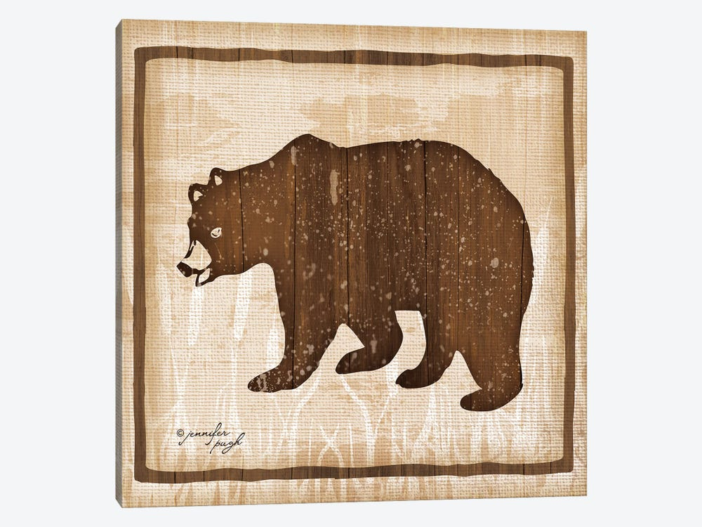 Bear by Jennifer Pugh 1-piece Canvas Art Print