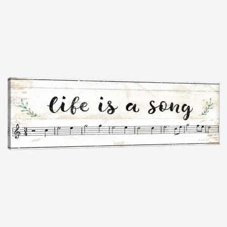 Life Is A Song Canvas Print #PUG73} by Jennifer Pugh Canvas Artwork