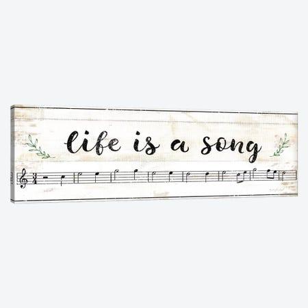 Life Is A Song Canvas Print #PUG73} by Jennifer Pugh Canvas Artwork