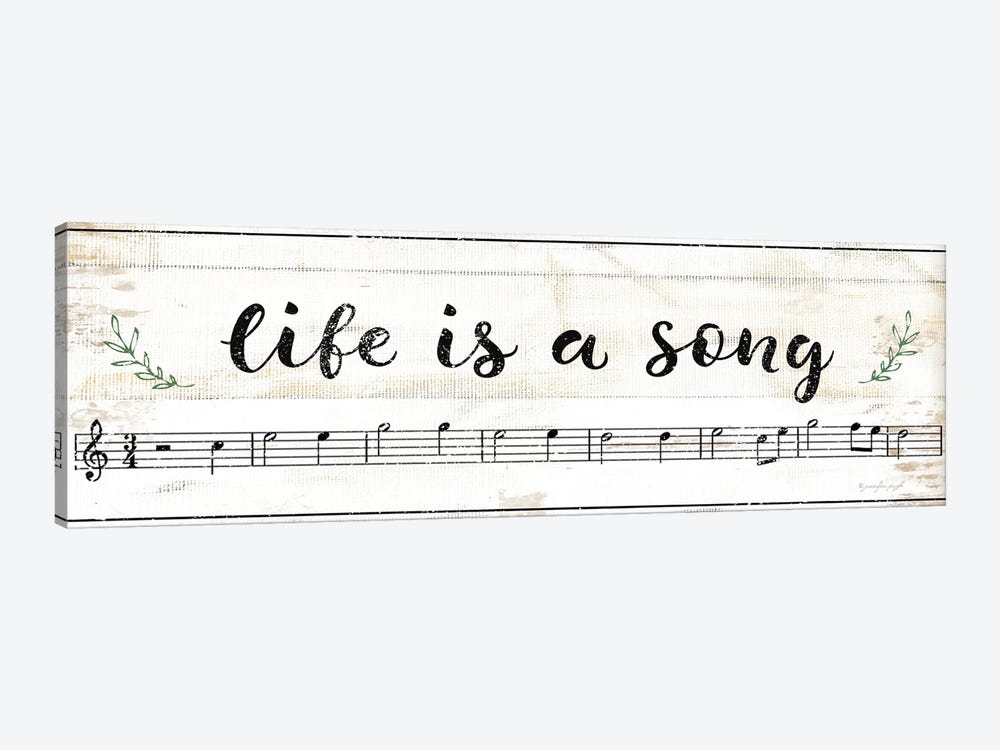 Life Is A Song by Jennifer Pugh 1-piece Canvas Print