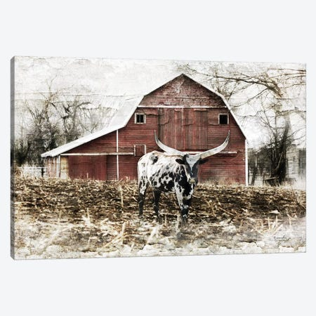 Longhorn I Canvas Print #PUG77} by Jennifer Pugh Canvas Print