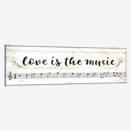 Love Is The Music Canvas Print #PUG79} by Jennifer Pugh Canvas Art