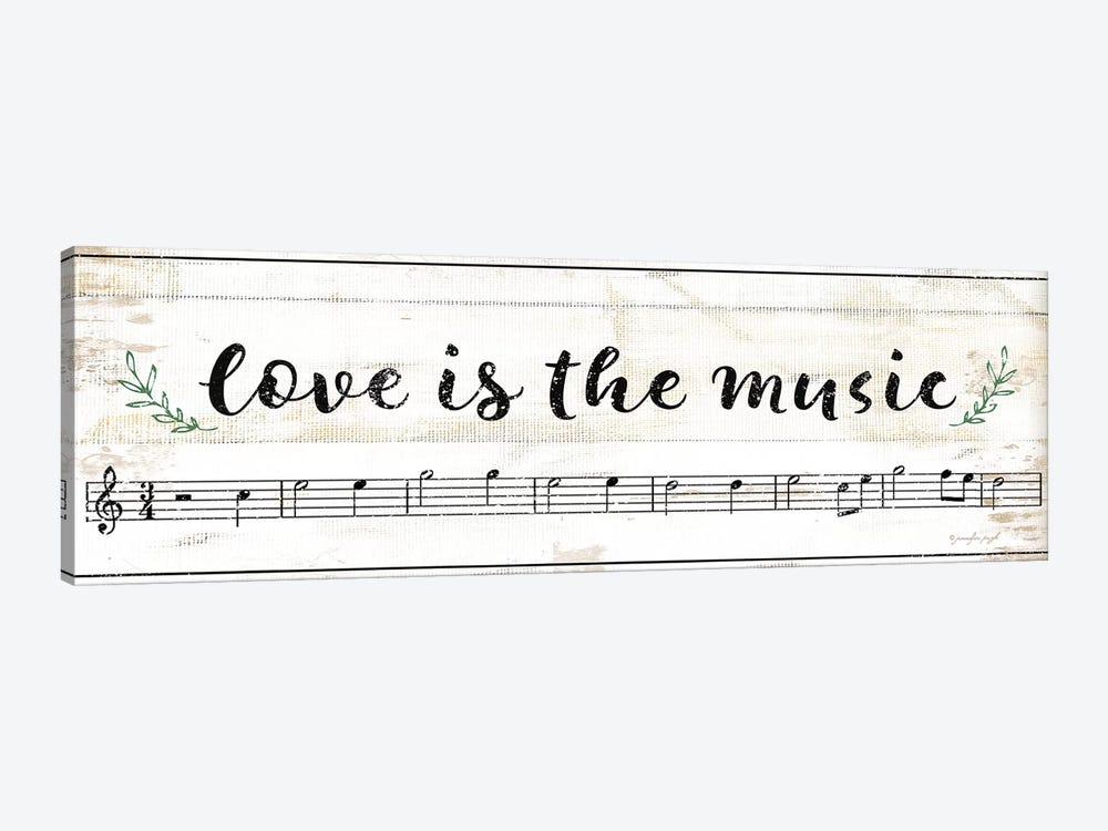 Love Is The Music 1-piece Art Print