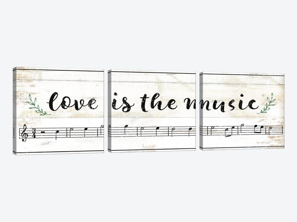 Love Is The Music by Jennifer Pugh 3-piece Canvas Print