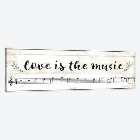 Love Is The Music Canvas Print #PUG79} by Jennifer Pugh Canvas Art