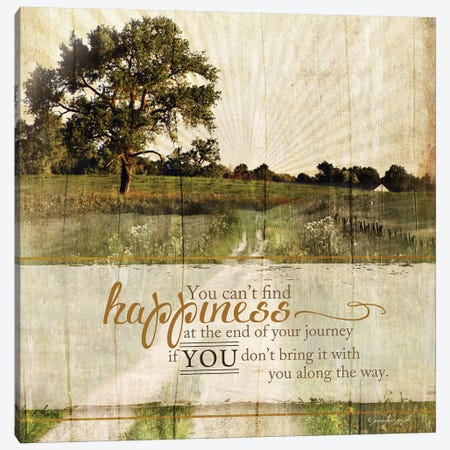 Bring Happiness Canvas Print #PUG7} by Jennifer Pugh Canvas Print