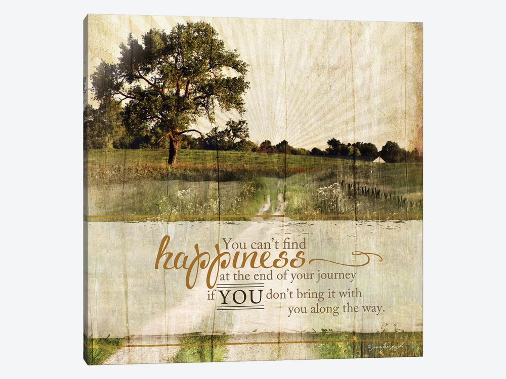 Bring Happiness by Jennifer Pugh 1-piece Canvas Artwork