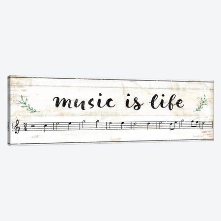Music Is Life Canvas Print #PUG80} by Jennifer Pugh Art Print