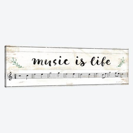 Music Is Life Canvas Print #PUG80} by Jennifer Pugh Art Print