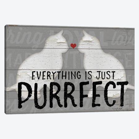 Purrfect Canvas Print #PUG82} by Jennifer Pugh Art Print