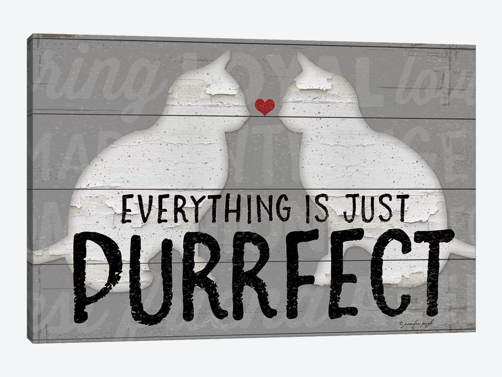 Purrfect by Jennifer Pugh 1-piece Canvas Print