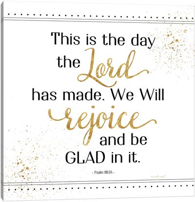 Rejoice And Be Glad Canvas Art Print