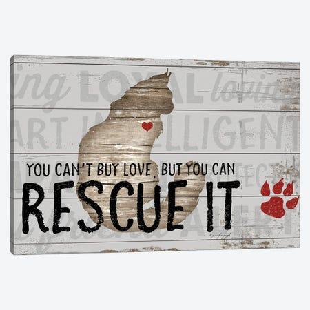 You Can't Buy Love - Cat 3-Piece Canvas #PUG89} by Jennifer Pugh Art Print