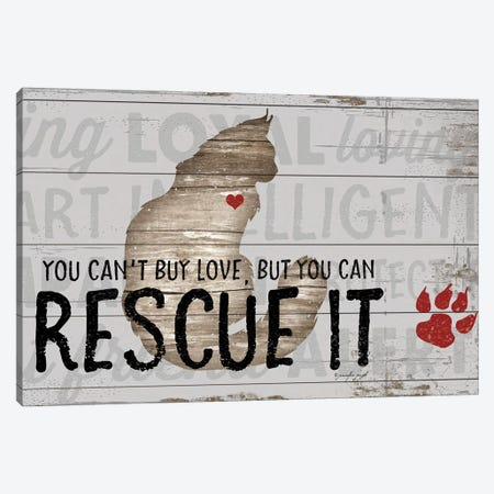You Can't Buy Love - Cat Canvas Print #PUG89} by Jennifer Pugh Art Print