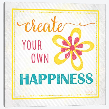 Create Your Own Happiness Canvas Print #PUG8} by Jennifer Pugh Canvas Art