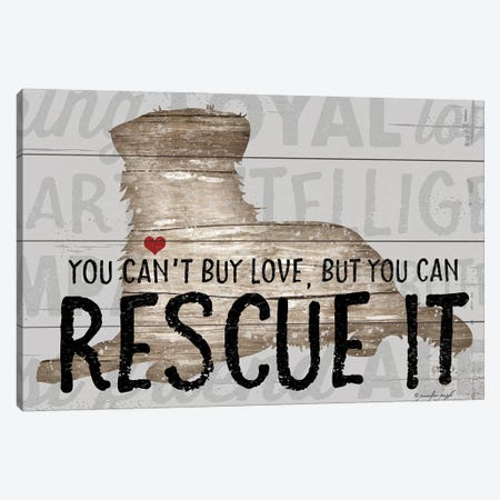You Can't Buy Love - Dog Canvas Print #PUG90} by Jennifer Pugh Canvas Wall Art