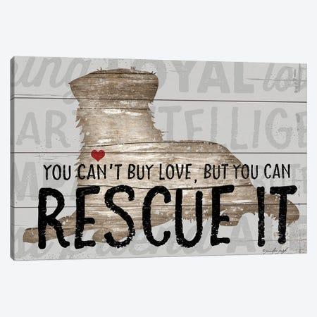 You Can't Buy Love - Dog Canvas Print #PUG90} by Jennifer Pugh Canvas Wall Art