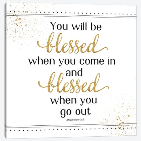 You Will Be Blessed Canvas Print #PUG93} by Jennifer Pugh Canvas Wall Art