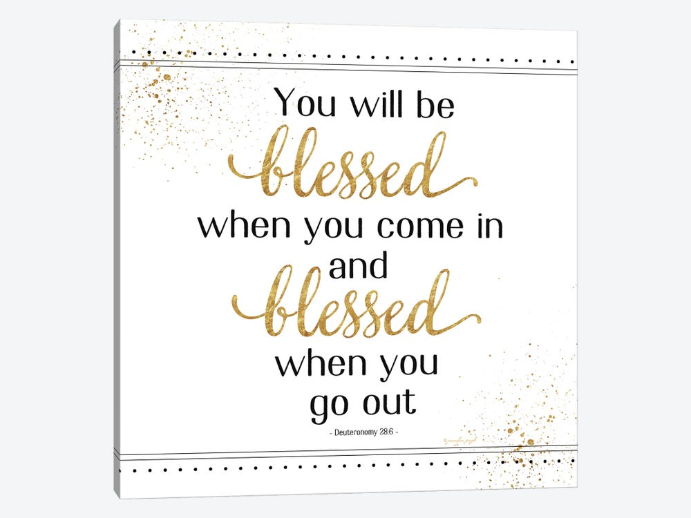 You Will Be Blessed by Jennifer Pugh 1-piece Canvas Art Print