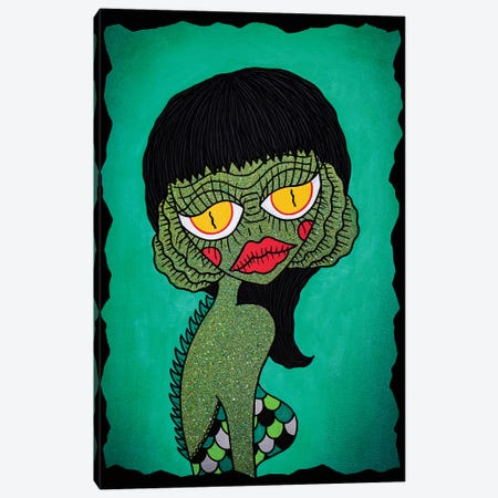 Creaturette From The Black Lagoon Canvas Print #PUP11} by Little Punk People Canvas Print