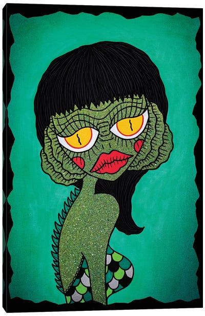 Creaturette From The Black Lagoon Canvas Art Print