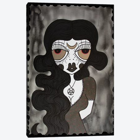 Goth Girl Canvas Print #PUP14} by Little Punk People Canvas Art