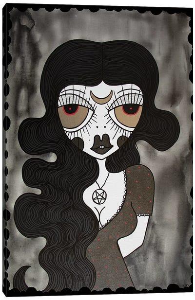 Goth Girl Canvas Art Print