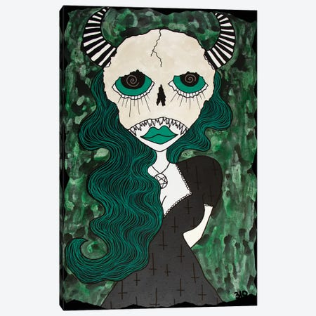 Green Hell Canvas Print #PUP15} by Little Punk People Canvas Art