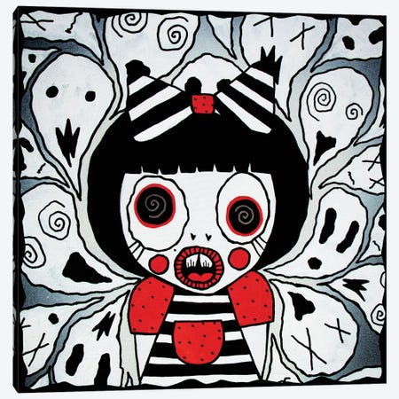 I See Ghosts Canvas Print #PUP17} by Little Punk People Canvas Art