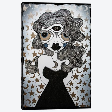Moon Goddess Canvas Print #PUP27} by Little Punk People Canvas Print