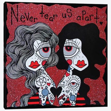 Never Tear Us Apart Canvas Print #PUP28} by Little Punk People Canvas Art