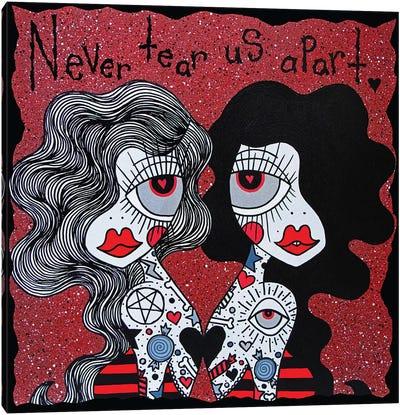 Never Tear Us Apart Canvas Art Print