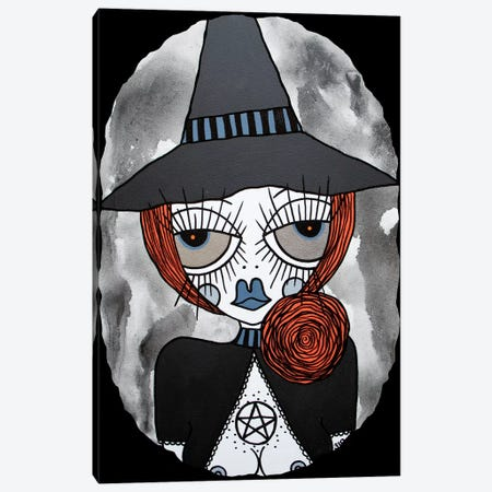 Orange Witch Canvas Print #PUP30} by Little Punk People Art Print