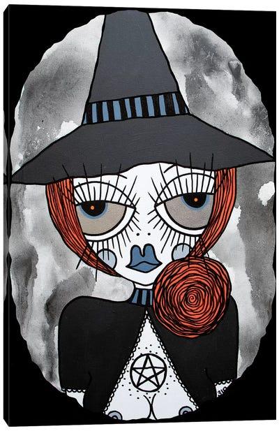 Orange Witch Canvas Art Print