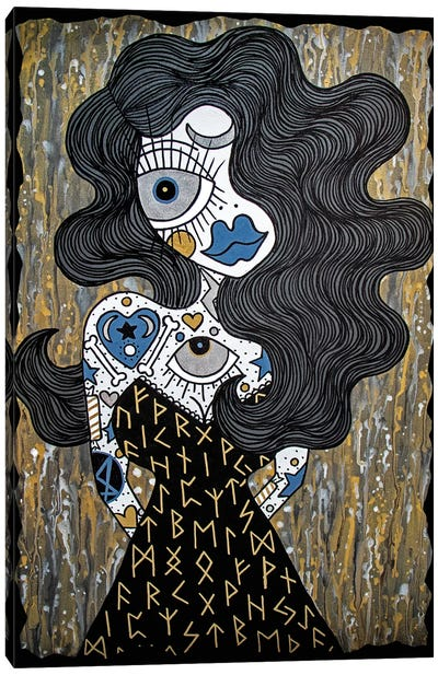 Runes Witch Canvas Art Print