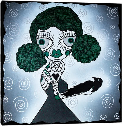 The Green Witch Doctor Canvas Art Print