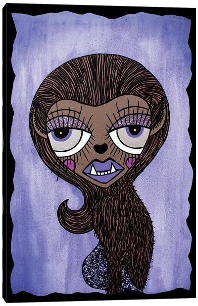 Wolflady Canvas Art Print